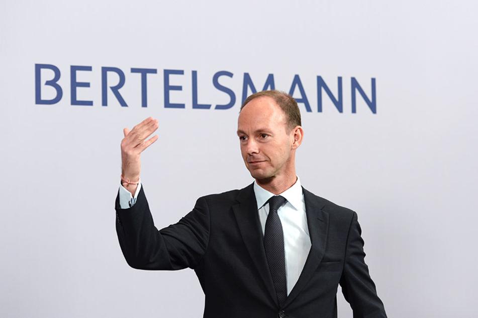 Bertelsmanns Vorstandsvorsitzender Thomas Rabe ist sehr zufrieden mit dem bisherigen Geschäftsjahr.