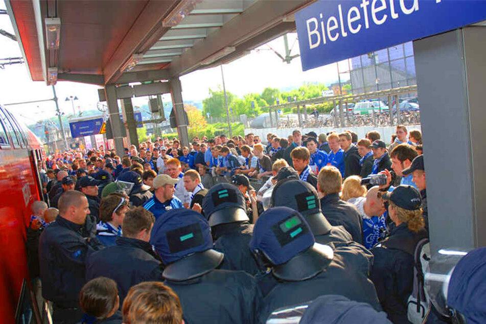 Die Sonderzüge von Arminia Bielefeld werden von den Fans gerne genutzt.