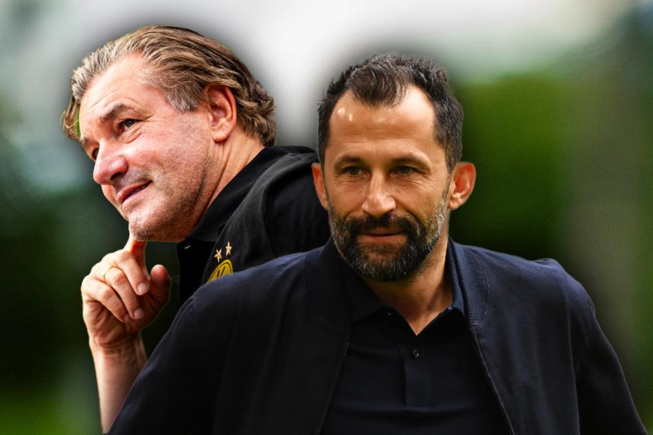 Zwischen Bayern-Sportdirketor Hasan Salihamidzic (44, r.) und BVB-Sportdirektor Michael Zorc (59) gab es keine Aussprache.