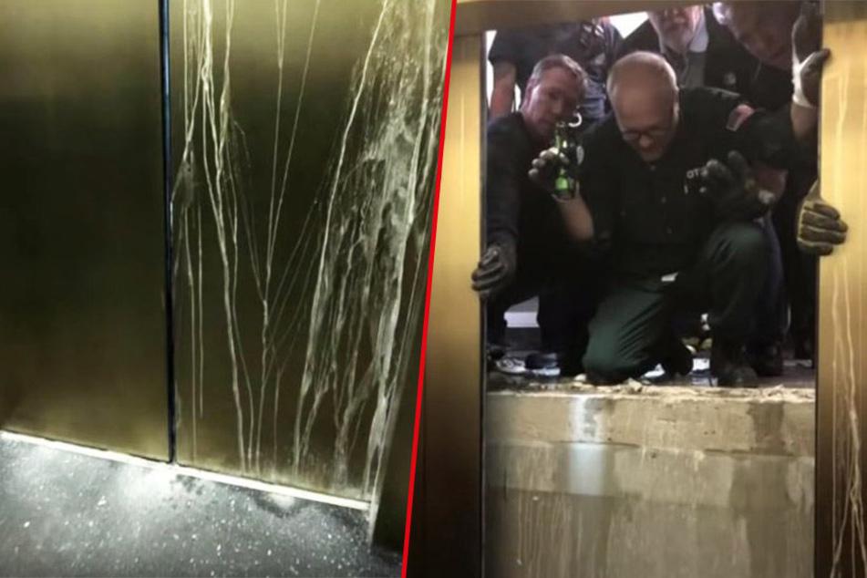 Horror-Szenario! Aufzug mit sechs Personen rast 84 Etagen in die Tiefe