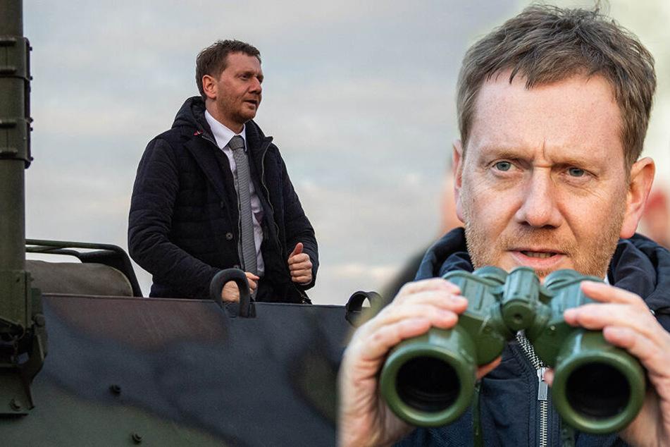 Ministerpräsident zu Besuch in Frankenberg: Kretschmer will Soldaten den Rücken stärken