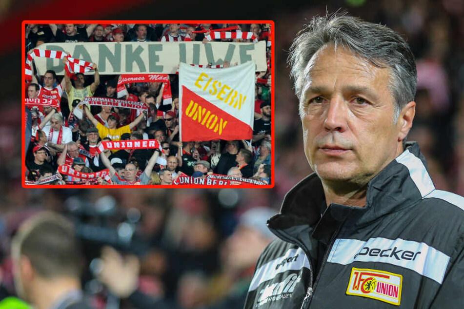 Eiserne Dankbarkeit: Uwe Neuhaus stieg in sieben Jahren zweimal mit dem 1. FC Union auf. (Archivbild)