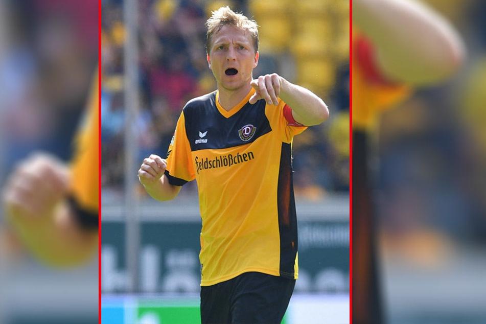 """Von Dynamo-Kapitän Marco Hartmann kommen klare Ansagen. """"So etwas habe ich auch noch nicht erlebt. Aber ich nehme das als Herausforderung"""", sagt er zum Endspurt um den Klassenerhalt."""