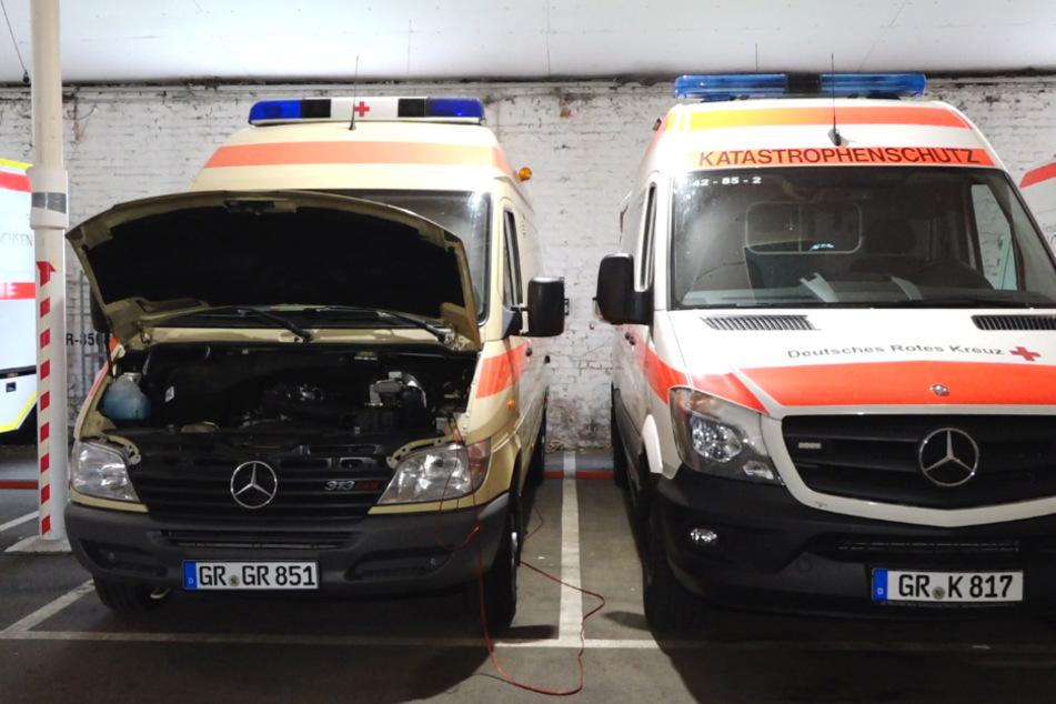 Der Görlitzer Katastrophenschutz muss seine Fahrzeuge in einer Halle ohne Abluft unterbringen.