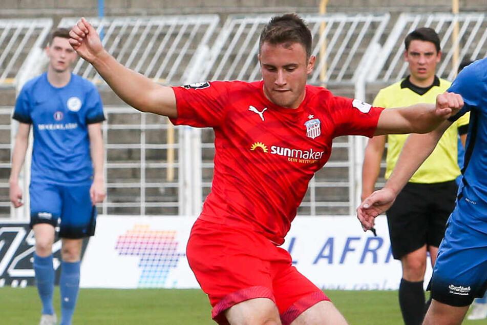 Denis Jäpel traf im Sachsenpokal Spiel gegen Tapfer Leipzig dreifach für den FSV Zwickau und bereitete auch noch Tore vor.
