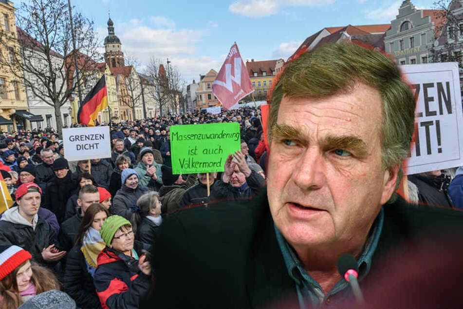 "Ralf Christoffers (Linke) warnt vor Cottbus als neuem ""Pegida""-Standort."