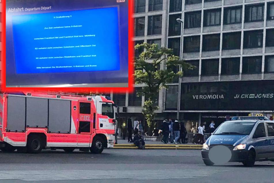 Feuerwehr, Polizei und Rettungskräfte waren mit mehreren Fahrzeugen zur Stelle.