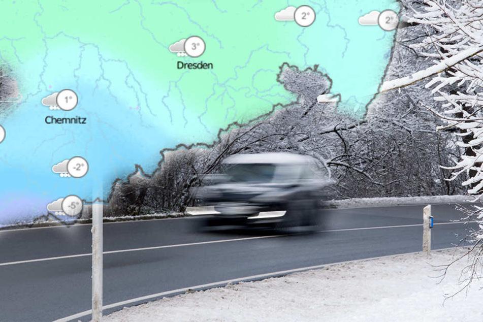 Es wird glatt auf den Straßen in Sachsen, Sachsen-Anhalt und Thüringen! (Symbolbild)