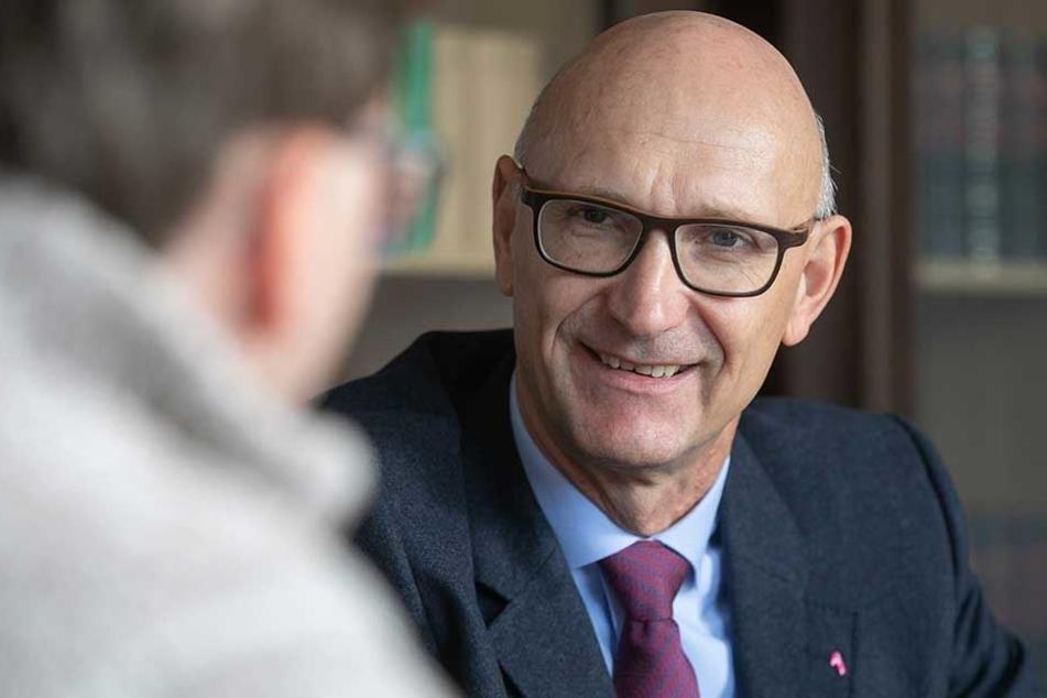 Telekom-Chef Timotheus Höttges sprach über den Ausbau des Breitbandnetzes in Sachsen.