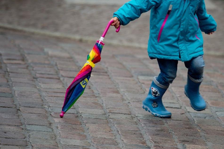 Das kleine Mädchen war plötzlich auf die Straße gerannt.