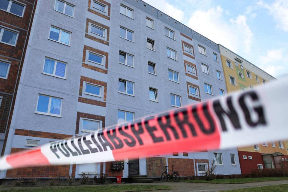 Die Polizei fand in einer Plattenbauwohnung ein Skelett in einem Blumentopf.