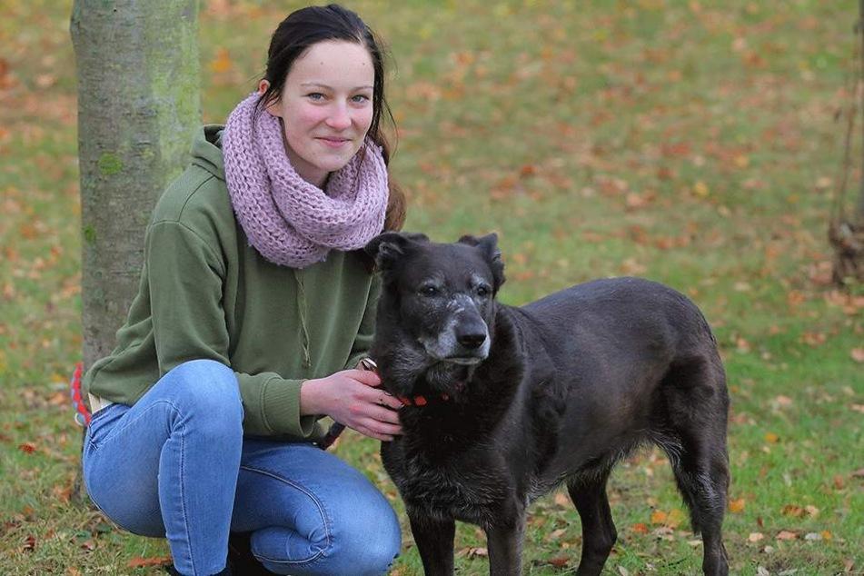 Nicole Vogt (18) arbeitet im Freiwilligen Ökologischen Jahr (FÖJ) im Tierheim, betreut auch Schäferhund-Mischling Gerda.