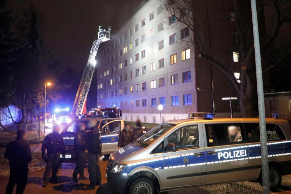 Brand in Chemnitzer Asylunterkunft: Ein Verletzter