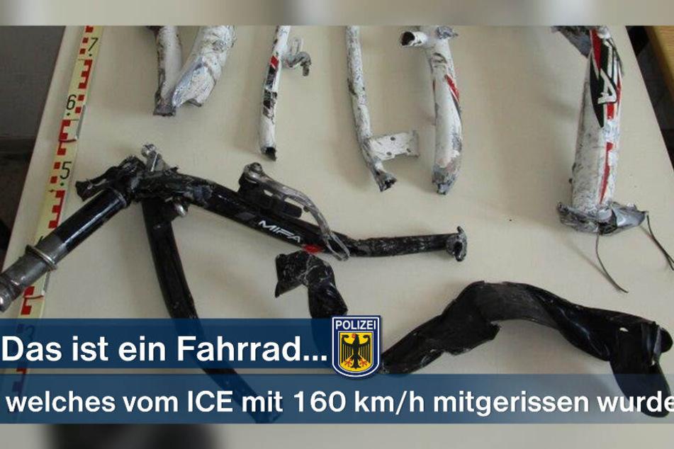Diese Einzelteile des Rads wurden in der Umgebung gefunden. Wer erkennt das Fahrrad?