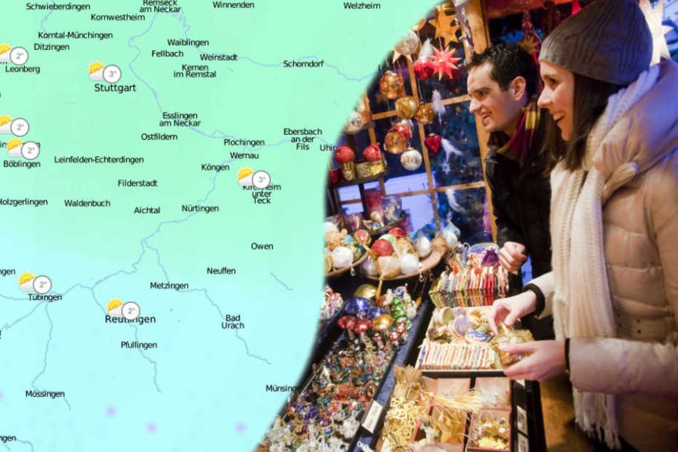 Beim richtigen Wetter macht der Bummel über den Weihnachtsmarkt (im Bild der Markt in Ludwigsburg) gleich nochmal soviel Spaß.