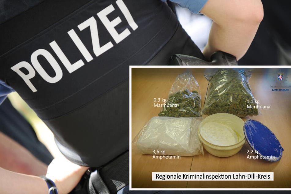 In den von dem 34-Jährigen genutzten Hallen fand die Polizei mehrere Kilo Drogen.