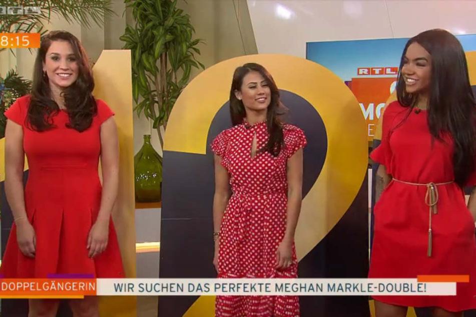 Tatjana, Mercy und Alicia (von links) sind überzeugt, dass sie wie Meghan Markle aussehen.