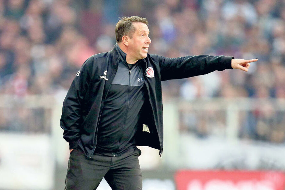 Markus Kauczinski am 29. März 2019. Da war er noch zwölf Tage Trainer des FC St. Pauli. Am Freitag kehrt er mit Dynamo zurück ans Millerntor.