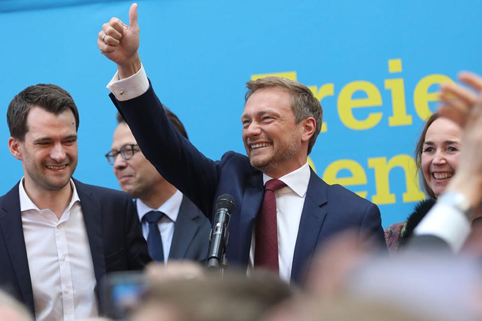 Wir sind wieder da... Christian Lindner und sein FDP-Team