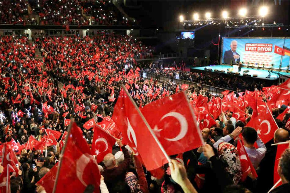 Veranstaltung des türkischen Ministerpräsidenten Yildirim in Oberhausen am 18.02.2017.