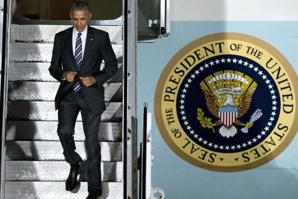 Barack Obama ist am Donnerstagabend in Berlin gelandet.