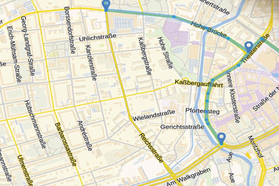 So soll die Strecke im Chemnitzer Zentrum verlaufen.