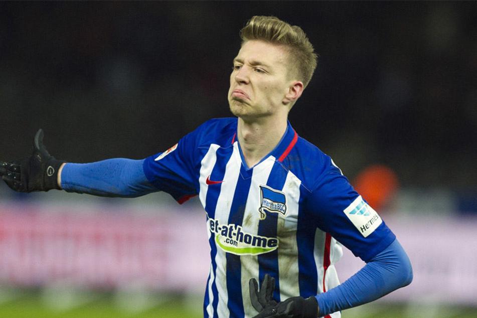 Herthas Mitchell Weiser soll auf der Einkaufsliste von RB Leipzig stehen.