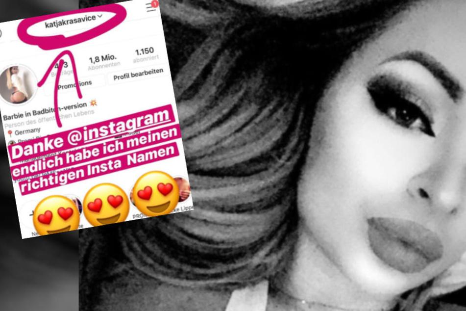 Das Beweisfoto: Katja Krasavice trägt jetzt auf Instagram ihren richtigen Namen.