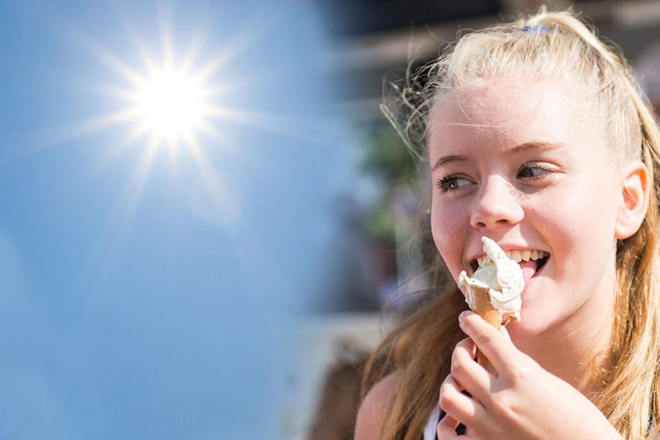 Im baden-württembergischen Offenbach stiegen am Sonntag die frühsommerlichen Temperaturen auf bis zu 27 Grad.