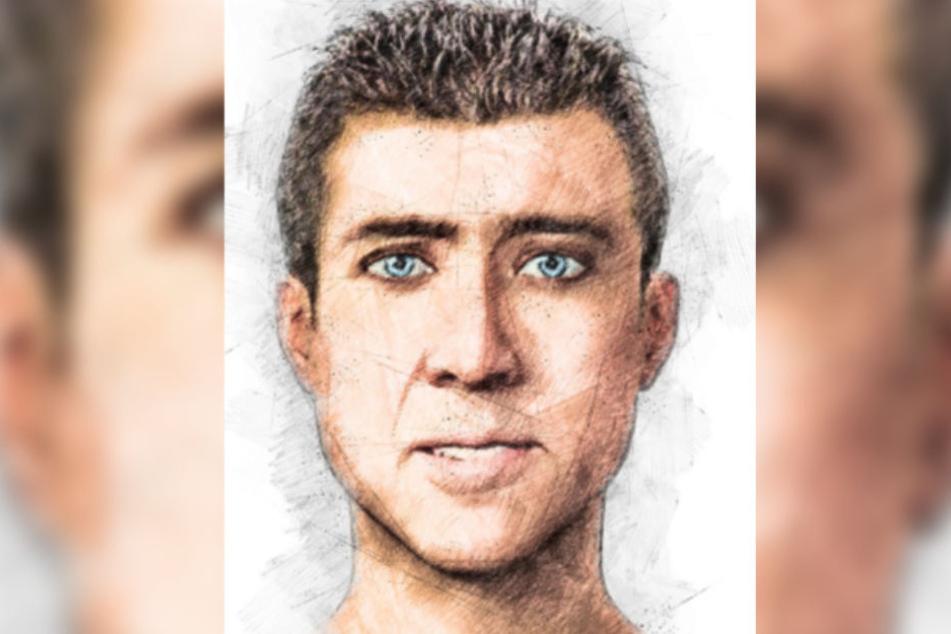 Das Phantombild der Polizei soll bei der Suche nach dem Täter helfen.