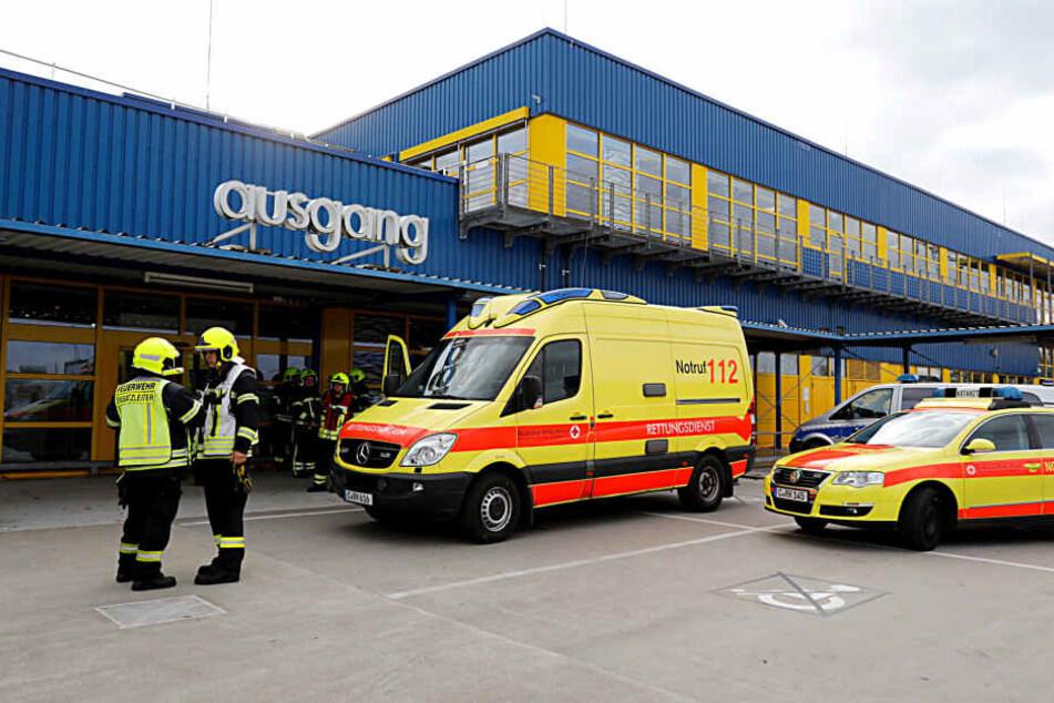 Drei Verletzte gab es bei der Ekel-Attacke im IKEA.