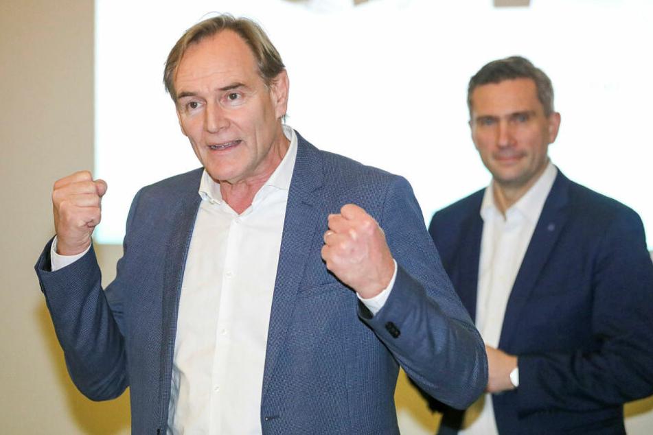 Amtsinhaber Burkhard Jung (61, SPD) wirbt für eine dritte Amtszeit als OB. Er habe noch viele Pläne für die Stadt.