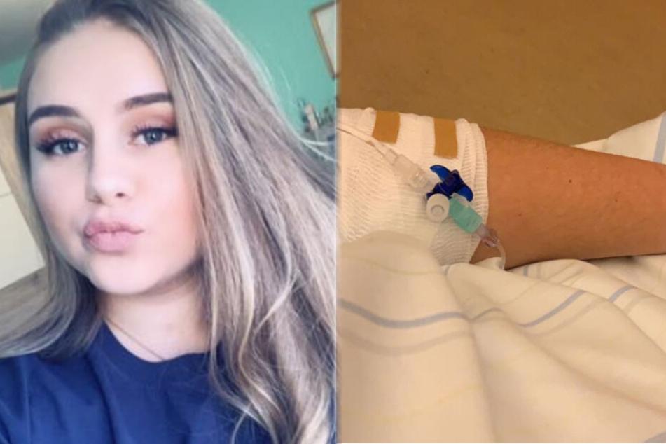 Estefania Wollny (17) hat offensichtlich mit gesundheitlichen Problemen zu kämpfen.