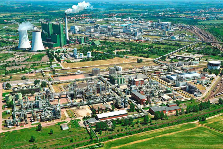 Das Gelände des Dow-Werkes in Schkopau.