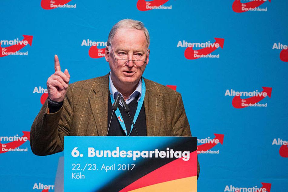 Alexander Gauland, AfD-Fraktionsvorsitzender im Landtag von Brandenburg, zieht für die AfD in den Bundestagswahlkampf.