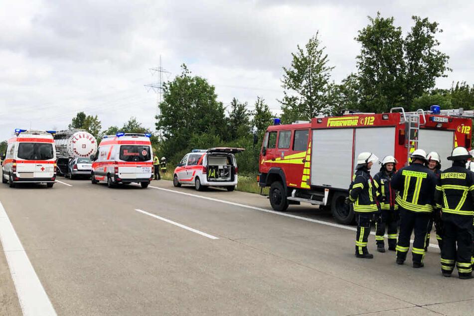 Die Autobahn musste wegen des Einsatzes in Richtung Magdeburg voll gesperrt werden.