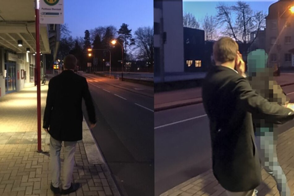 Der Täter trug eine schwarze Jacke, soll 25 bis 30 Jahre alt sein.