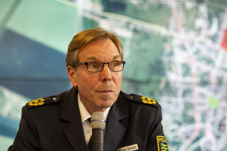 Torsten Schultze im April 2018, damals noch als Polizeipräsident der Polizeidirektion Görlitz.
