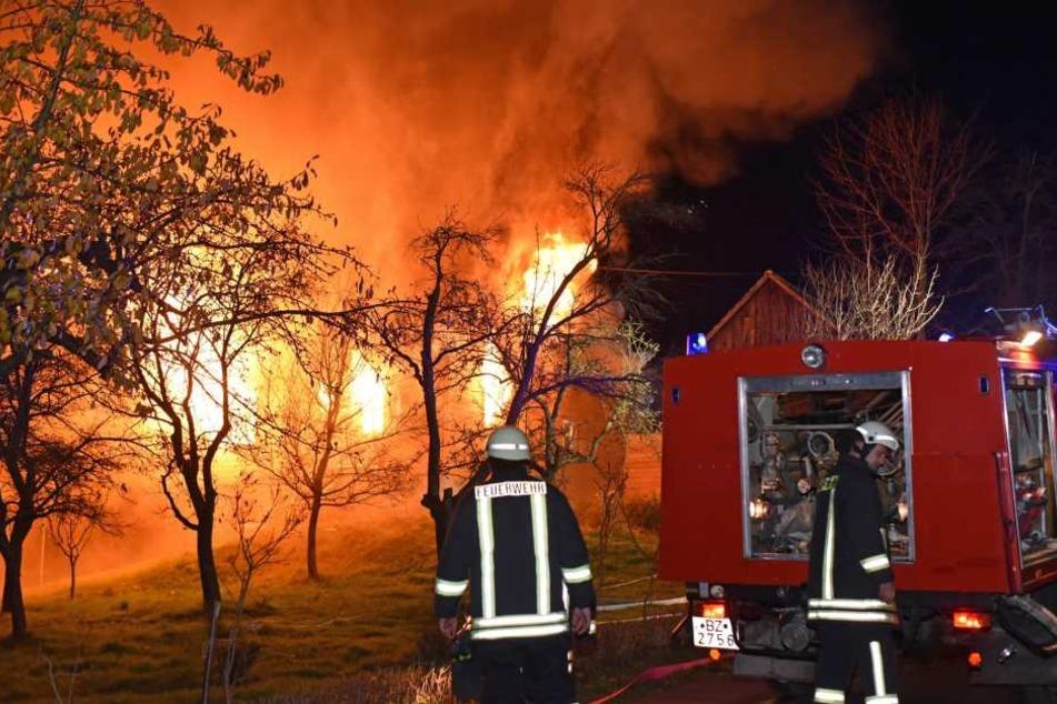 Die Flammen zerstörten das komplette Wohnhaus.