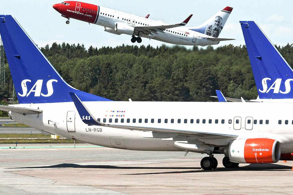Ein Scandinavian-Airlines-Flieger wählte aufgrund von Technikproblemen eine neue Route.
