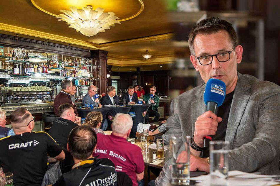 Dynamos Kaufmännischer Geschäftsführer Michael Born verriet in einer illustren Runde im Dresdner Schankhaus Schillergarten einiges über die Vereinspolitik der Schwarz-Gelben und die Zukunft des Profifußballs.