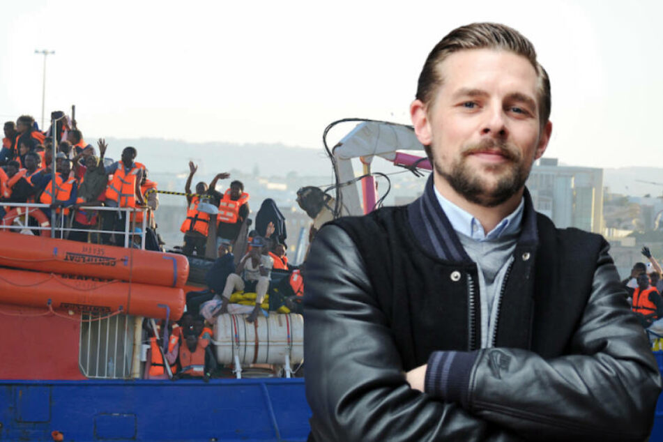 Entertainer Klaas Heufer-Umlauf (34) ist betroffen vom Schicksal tausender Flüchtlinge im Mittelmeer. (Bildmontage).