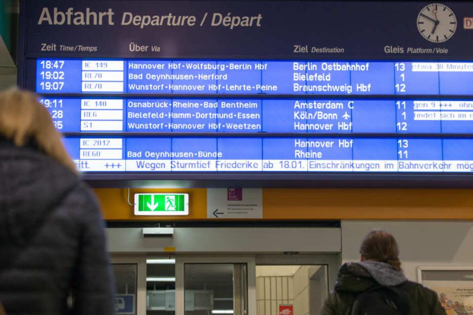 Schon am Mittwoch hatte die Deutsche Bahn Einschränkungen angekündigt.