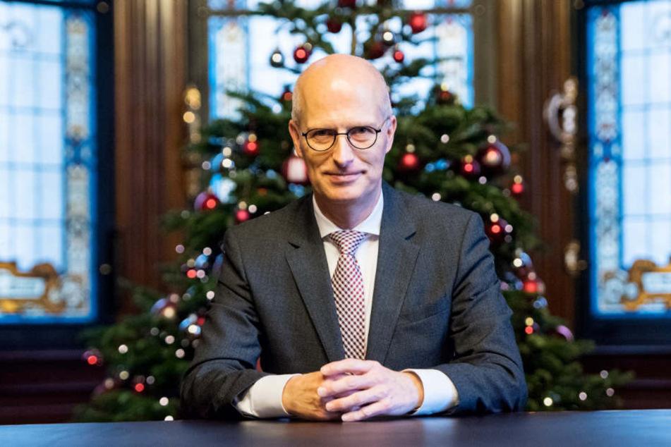 Hamburgers Erster Bürgermeister Peter Tschentscher (SPD) zeigte sich mit seinem ersten Jahr zufrieden.