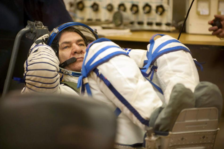 Paolo Nespoli aus Italien ist einer der drei Astronauten auf der ISS.