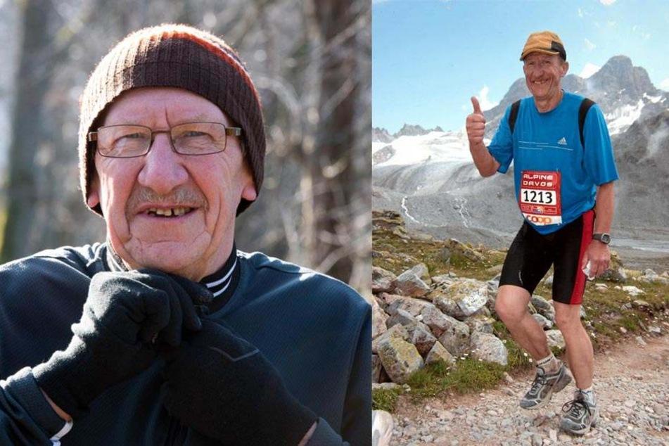 Vorwärts immer: Karl-Jürgen Riedel trainiert bei Wind und Wetter. Ohne Bewegung fehlt ihm was.