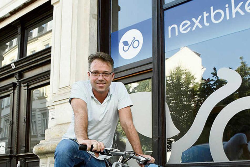 Nextbike-Chef Ralf Kalupner (44) orderte jetzt 40.000 neue Fahrräder bei der Sachsenring Manufaktur, der alten Mifa-Schmiede.
