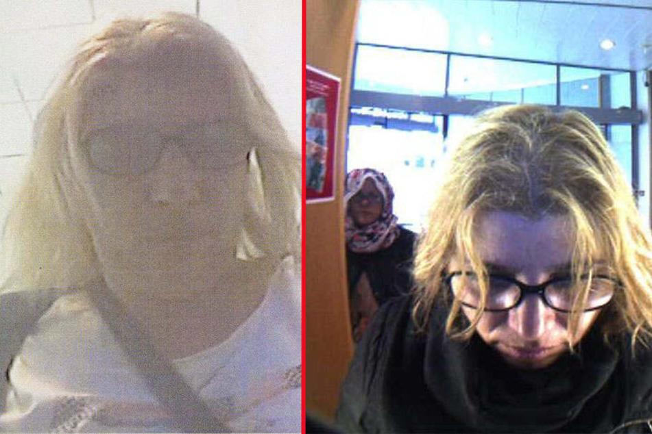 Ist diese Tatverdächtige dieselbe Frau? Das Fahndungsfoto von vor fünf Wochen (li.) und das aktuell (re.).