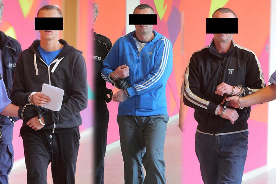 Wurden beim Diebstahl erwischt:Robert M.,Andrzej S. und Zbigniew C. (v.l.n.r.).
