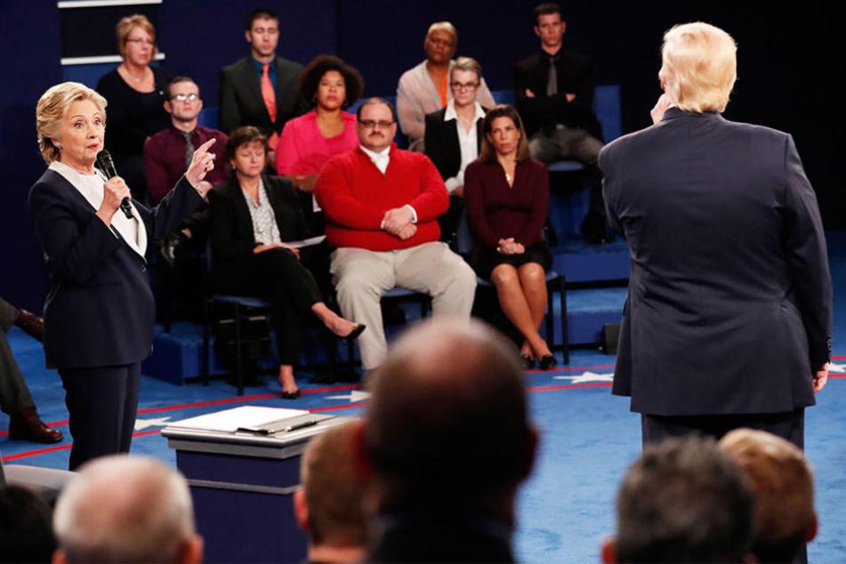 Ken Bone saß am Sonntag in der ersten Reihe als Clinton und Trump sich fast an die Gurgel gingen.